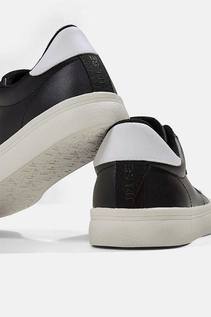 Sneaker in Lederoptik, BLACK, detail image number 4