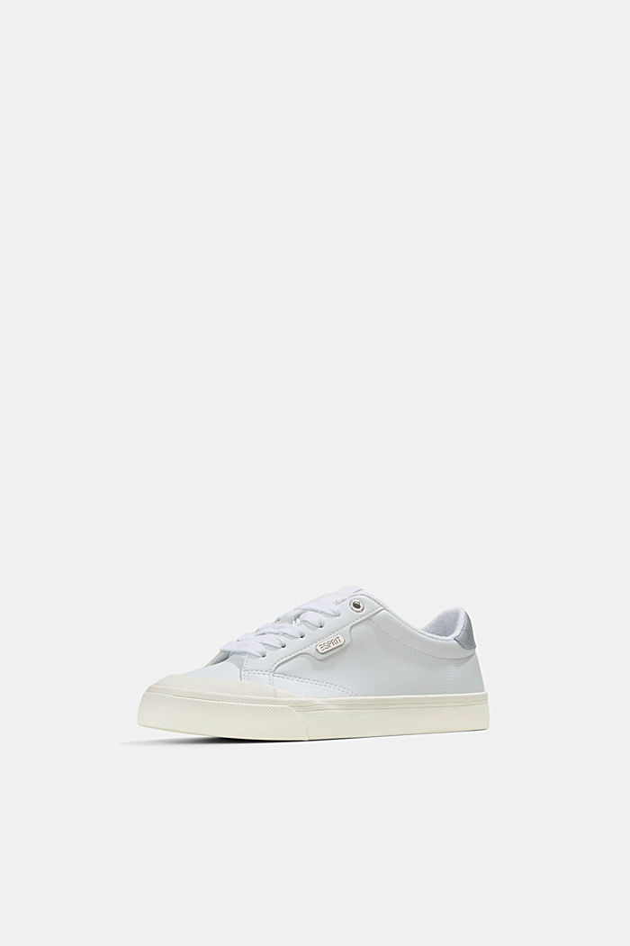 Sneaker in Lederoptik, WHITE, detail image number 2