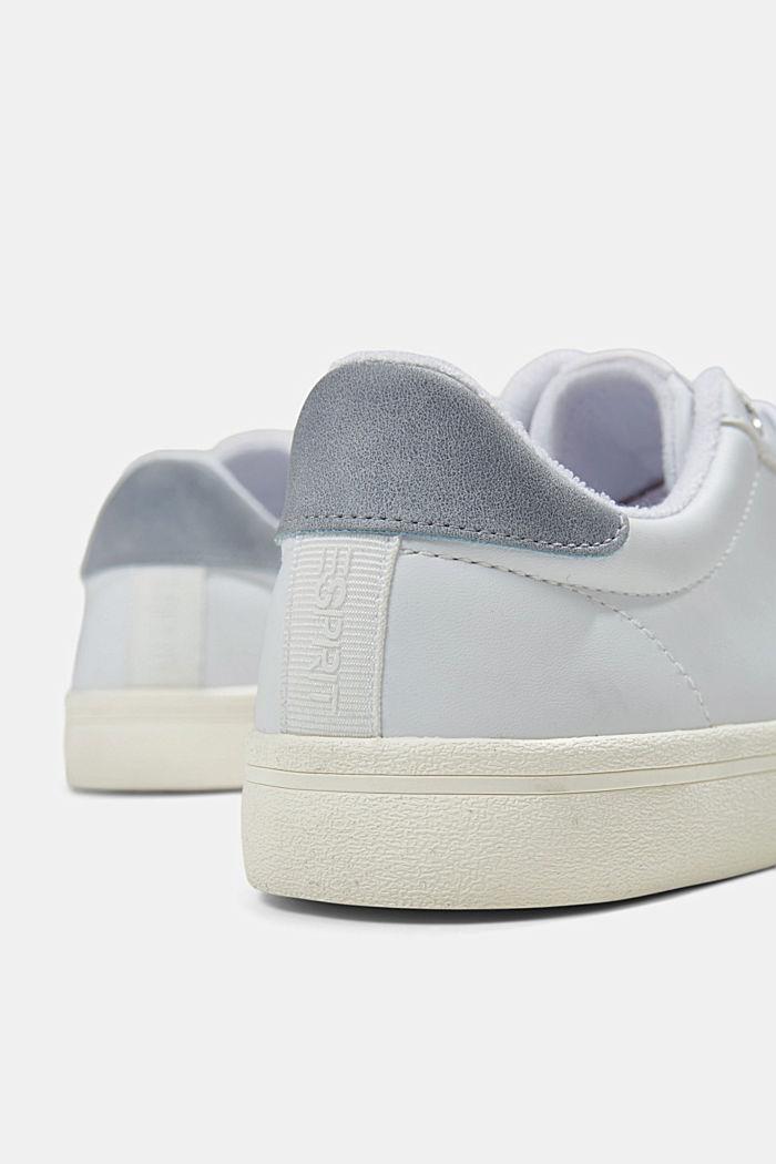 Sneaker in Lederoptik, WHITE, detail image number 4
