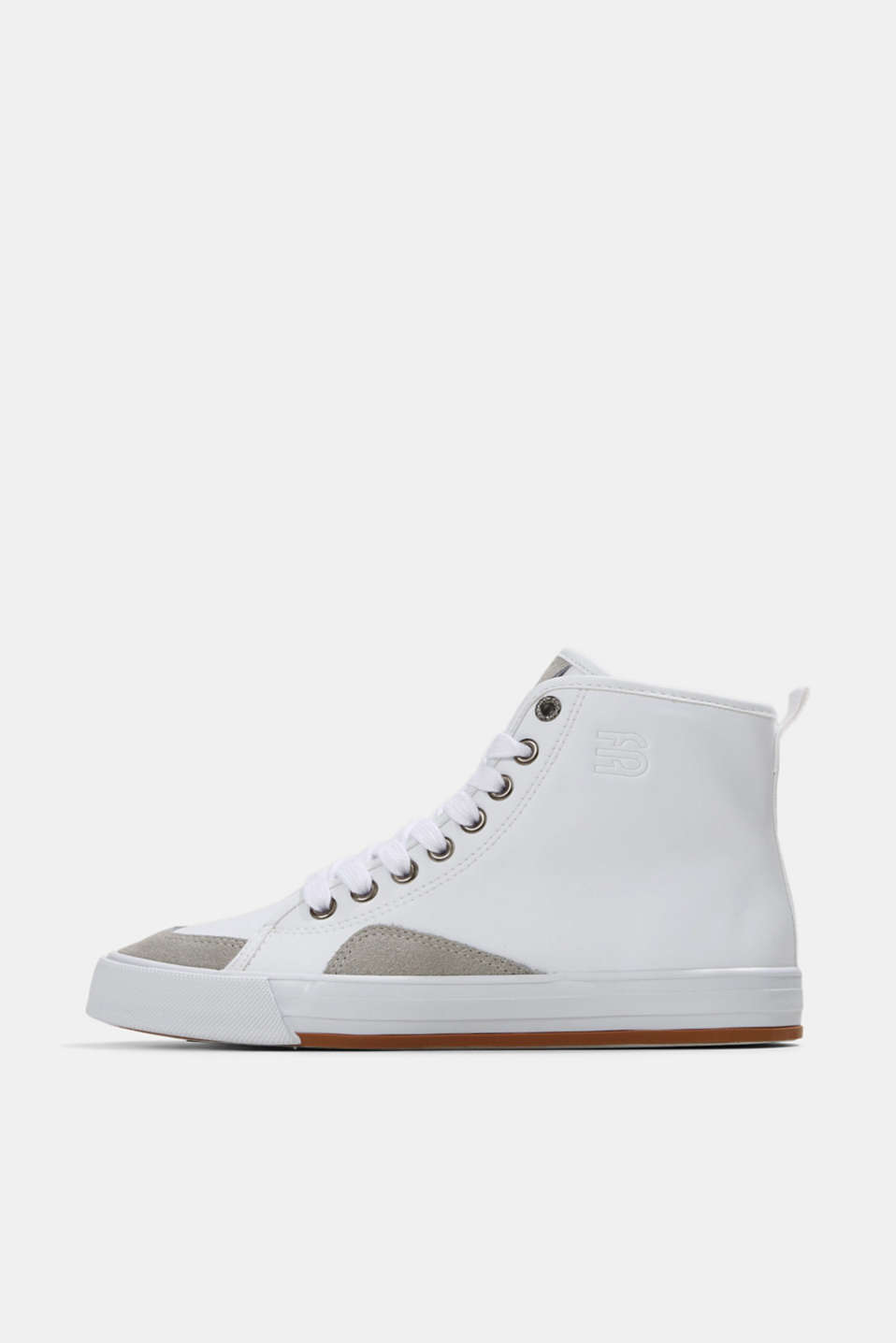 Esprit - Including leather: High-top trainers in a mix of materials