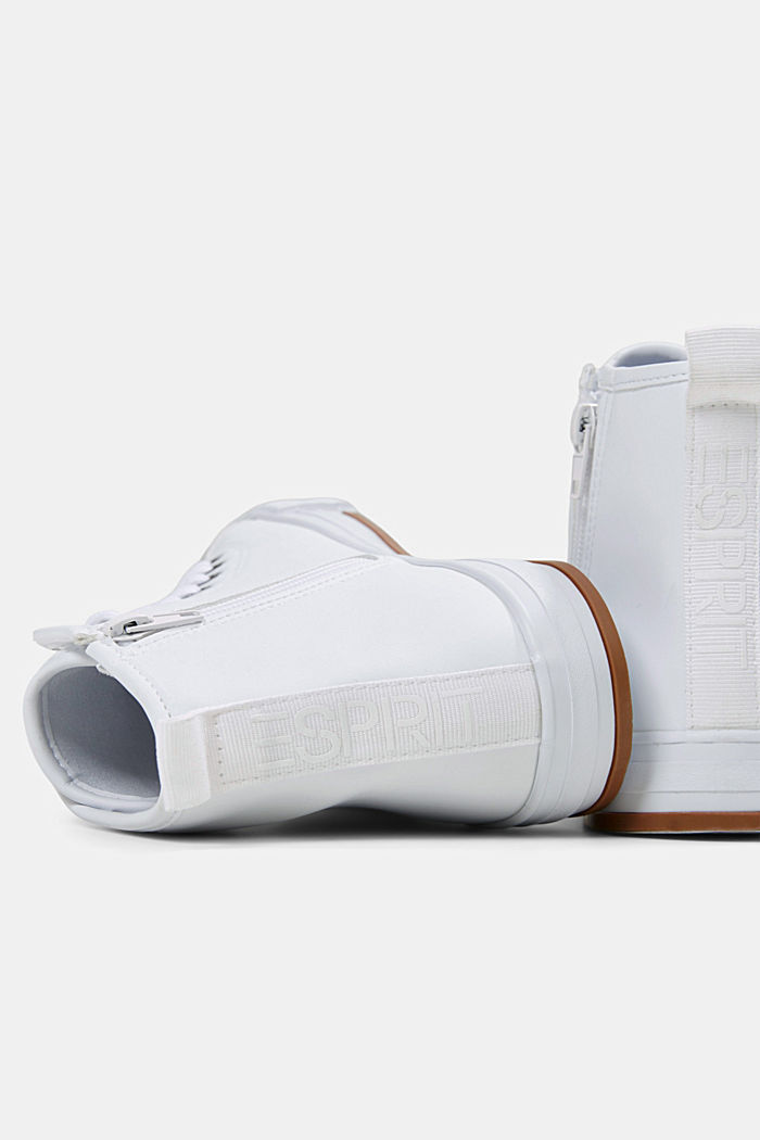 Including leather: High-top trainers in a mix of materials, WHITE, detail image number 4