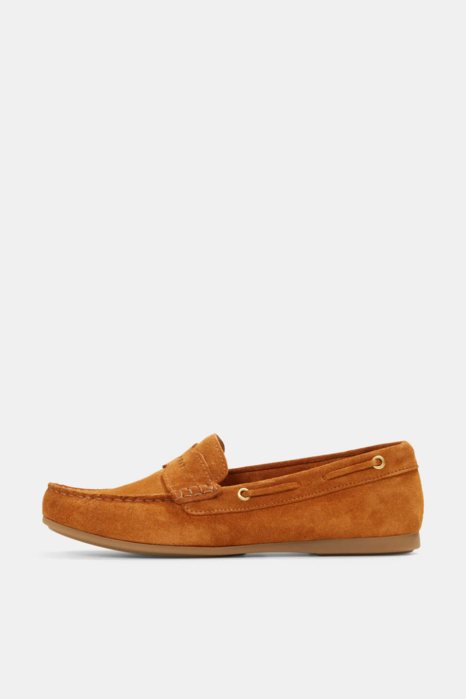 Esprit - Made of suede: Moccasin loafers