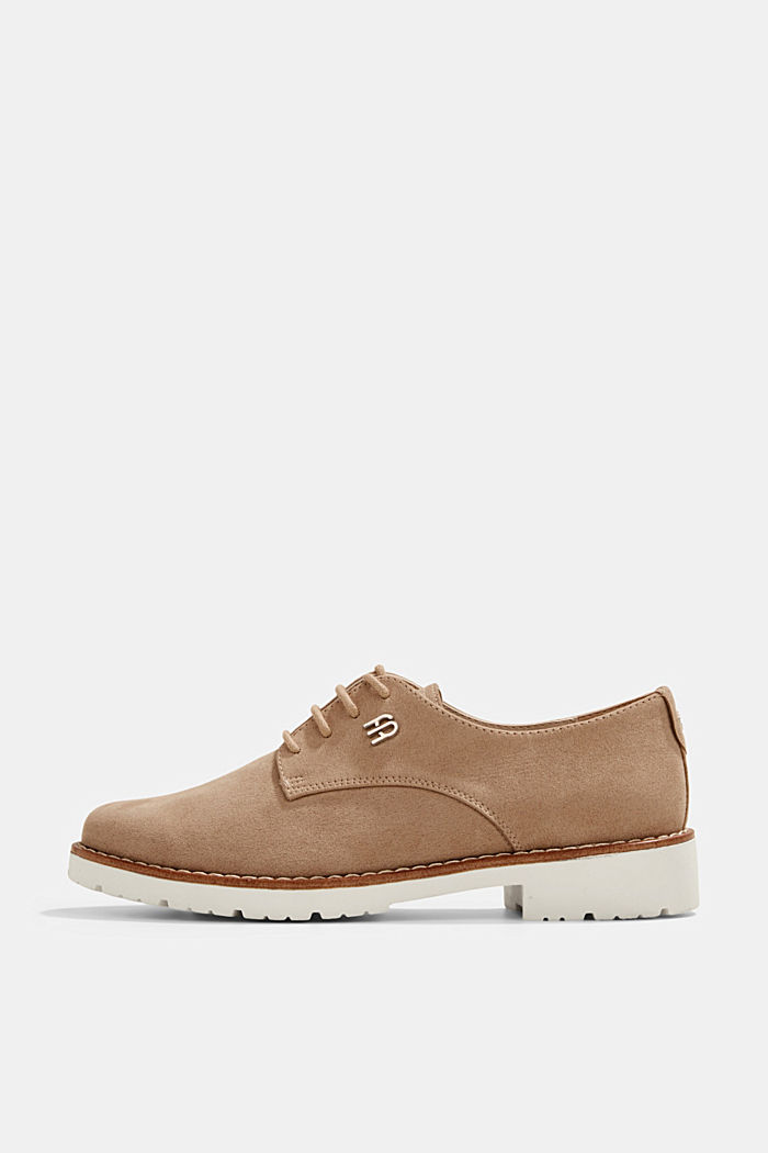 Faux leather lace-up shoes