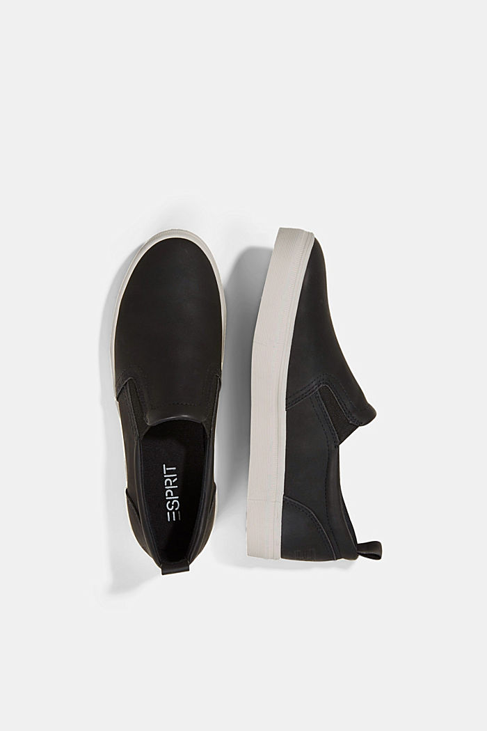 Faux leather slip-on trainers, BLACK, detail image number 1