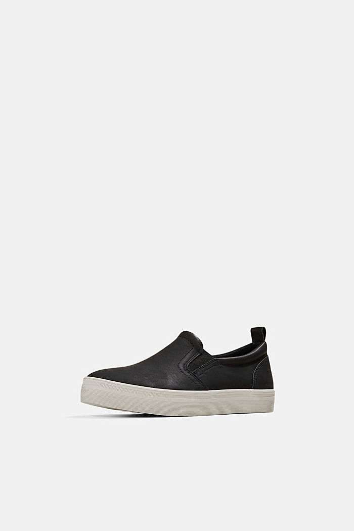 Faux leather slip-on trainers, BLACK, detail image number 2