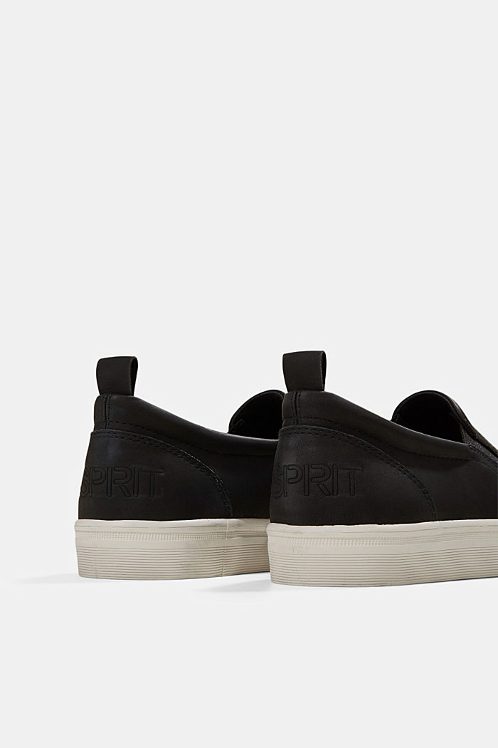 Faux leather slip-on trainers, BLACK, detail image number 4