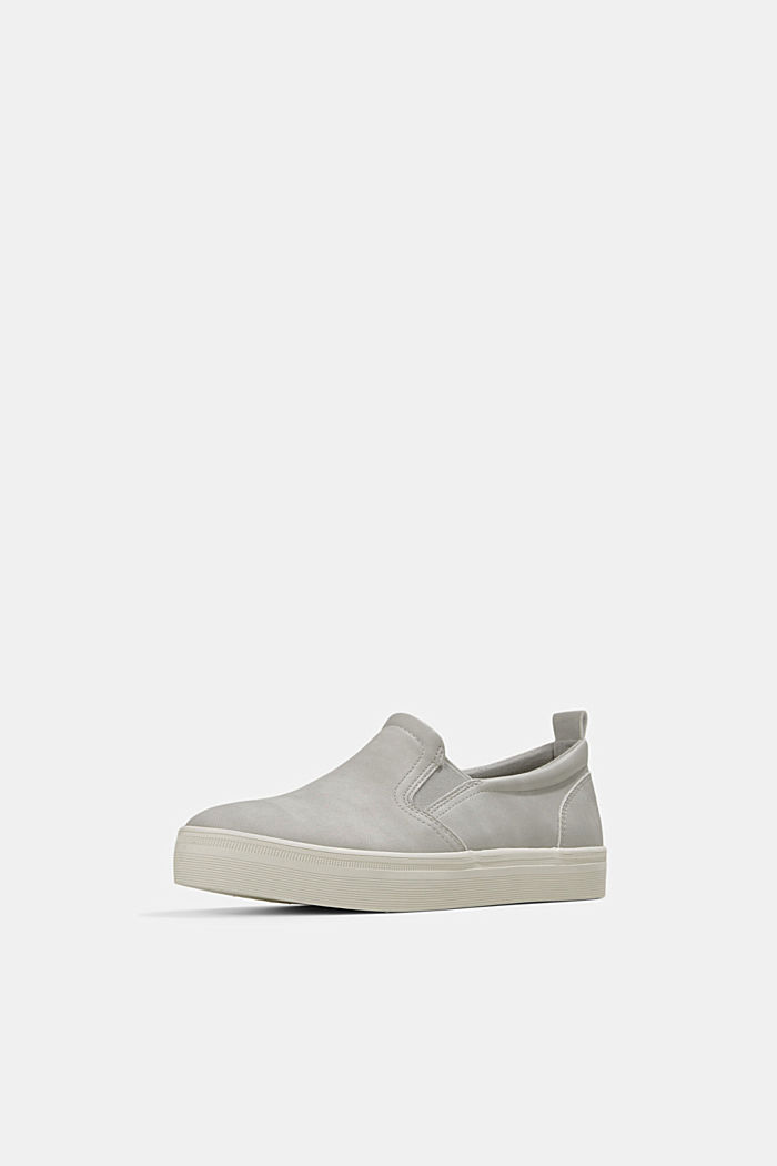 Faux leather slip-on trainers, LIGHT GREY, detail image number 2