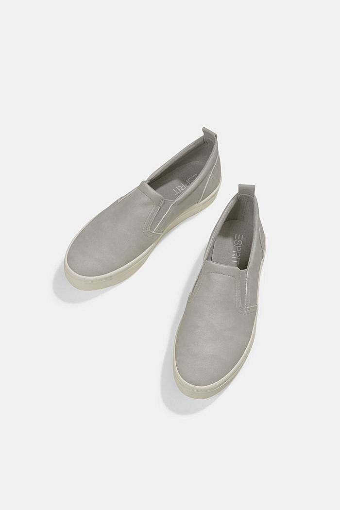 Faux leather slip-on trainers, LIGHT GREY, detail image number 5