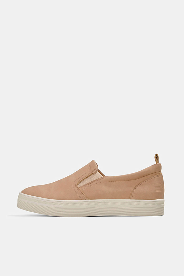 Faux leather slip-on trainers, SAND, detail image number 0