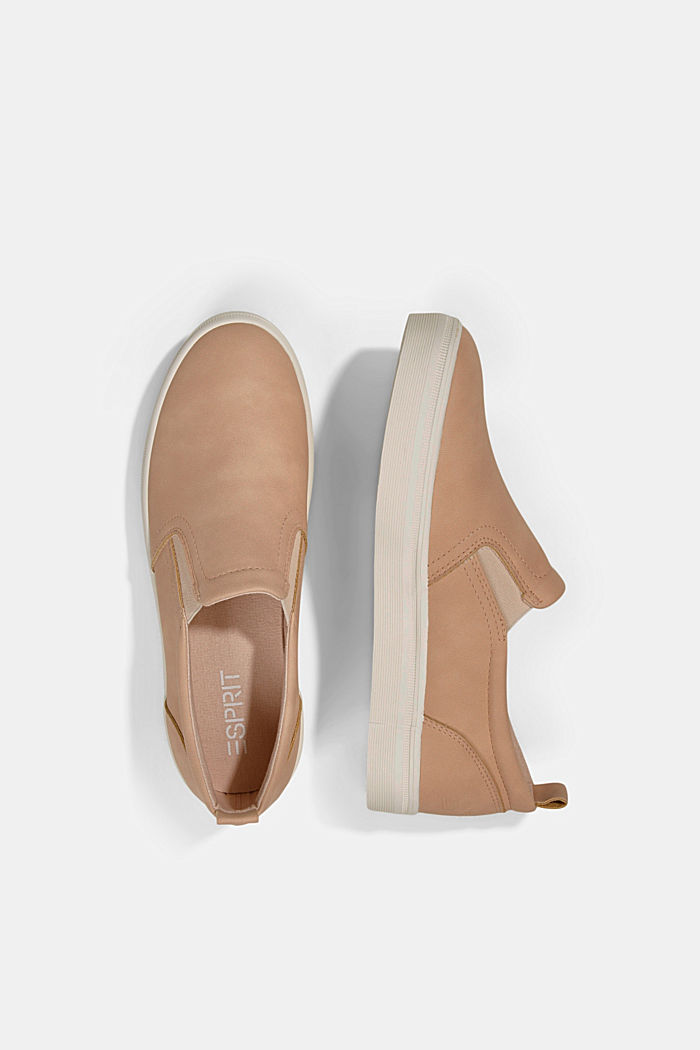 Faux leather slip-on trainers, SAND, detail image number 1