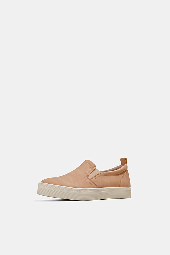 Faux leather slip-on trainers, SAND, detail image number 2