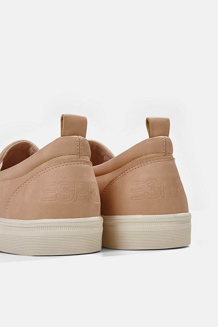 Faux leather slip-on trainers, SAND, detail image number 4