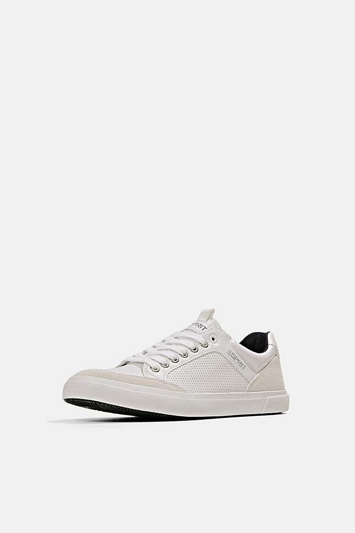 Perforated trainers in faux leather, WHITE, detail image number 2