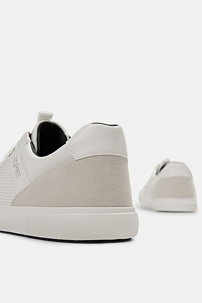 Perforated trainers in faux leather, WHITE, detail image number 5