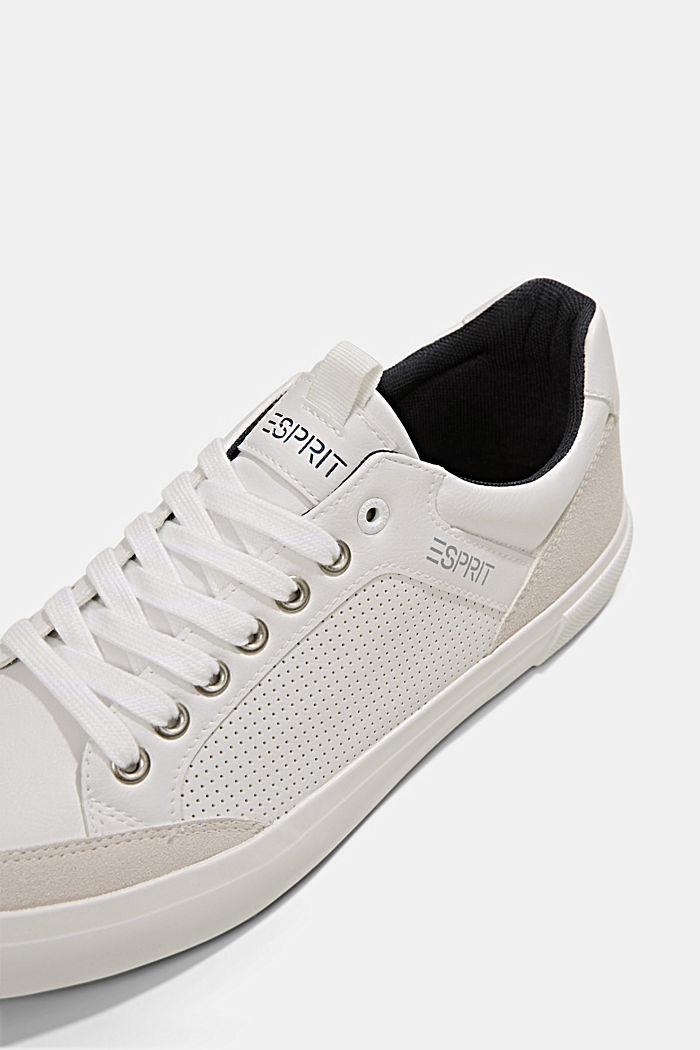 Perforated trainers in faux leather, WHITE, detail image number 4