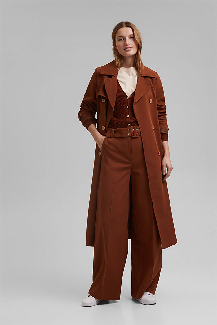 High-cut trousers with a belt, TOFFEE, detail image number 1