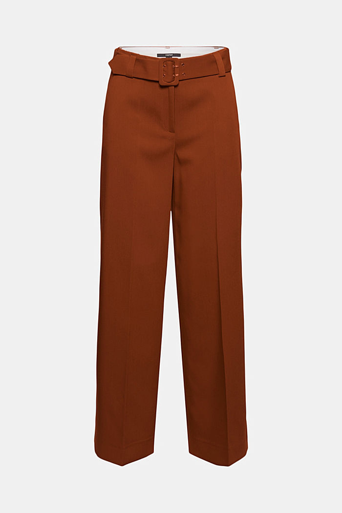 High-cut trousers with a belt