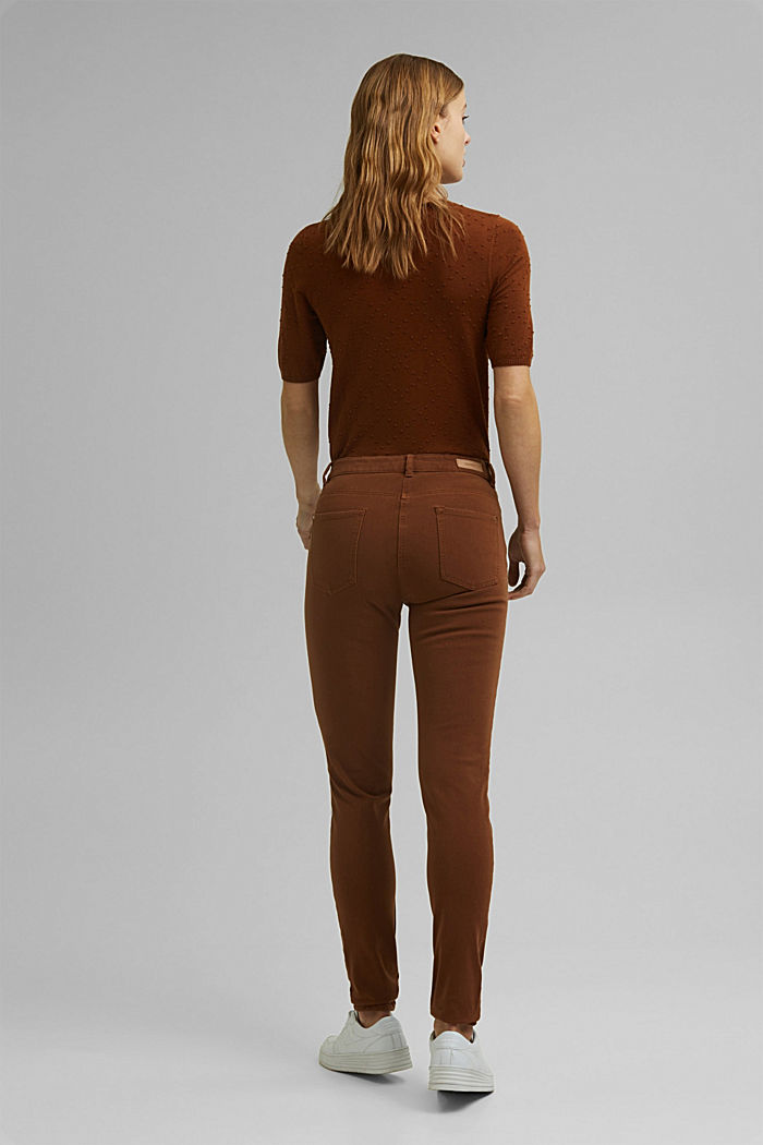 Two-way stretch trousers with organic cotton, TOFFEE, detail image number 3