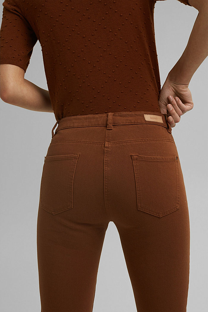Two-way stretch trousers with organic cotton, TOFFEE, detail image number 5