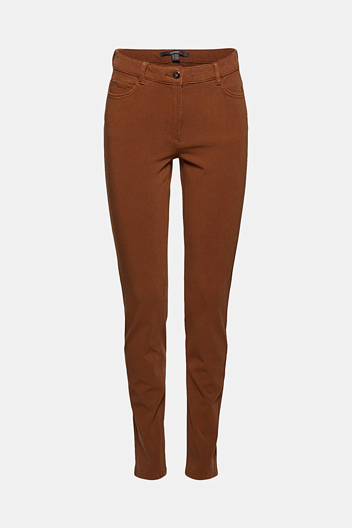 Two-way stretch trousers with organic cotton, TOFFEE, detail image number 6