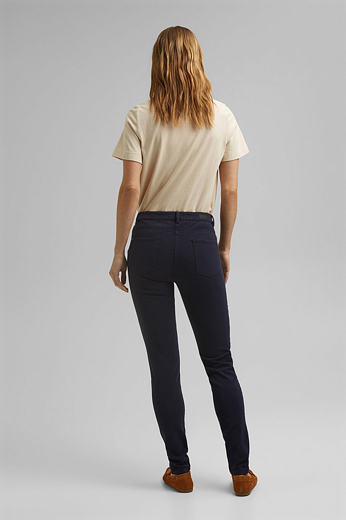 Two-way stretch trousers with organic cotton, NAVY, detail image number 3