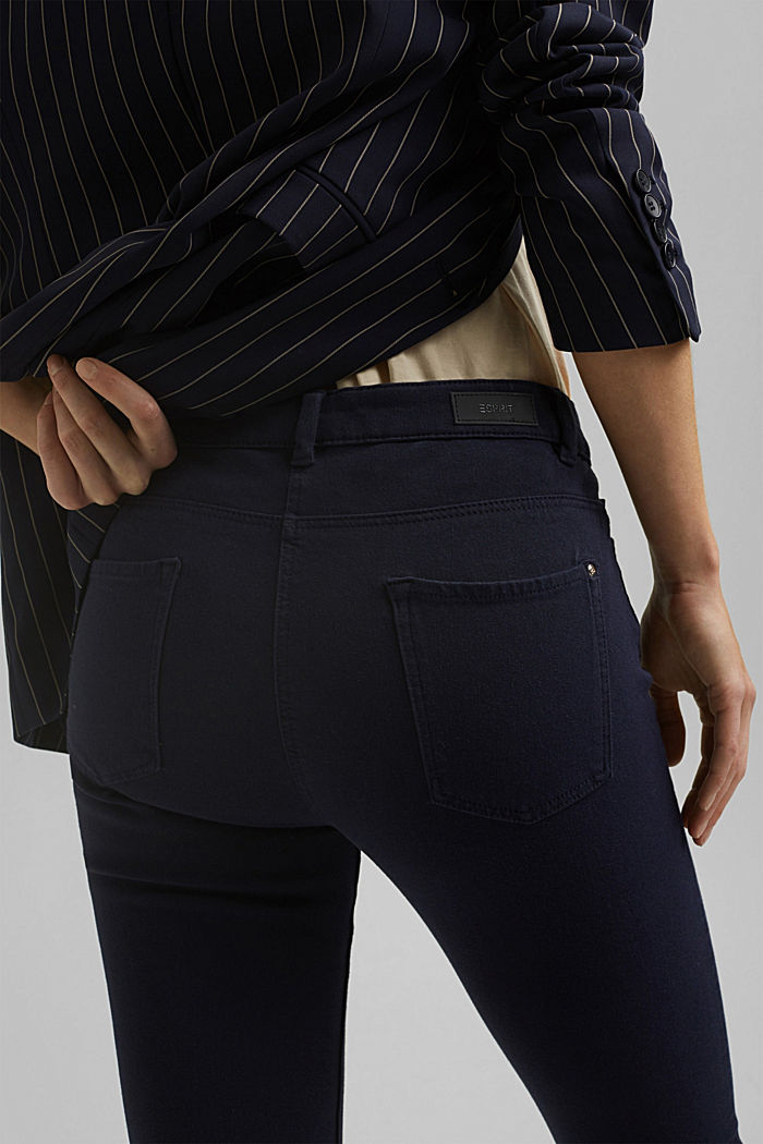 Two-way stretch trousers with organic cotton, NAVY, detail image number 5