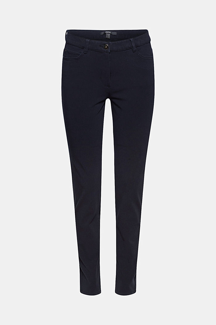 Two-way stretch trousers with organic cotton, NAVY, detail image number 6