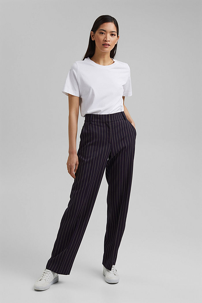 Recycled: pinstripe trousers