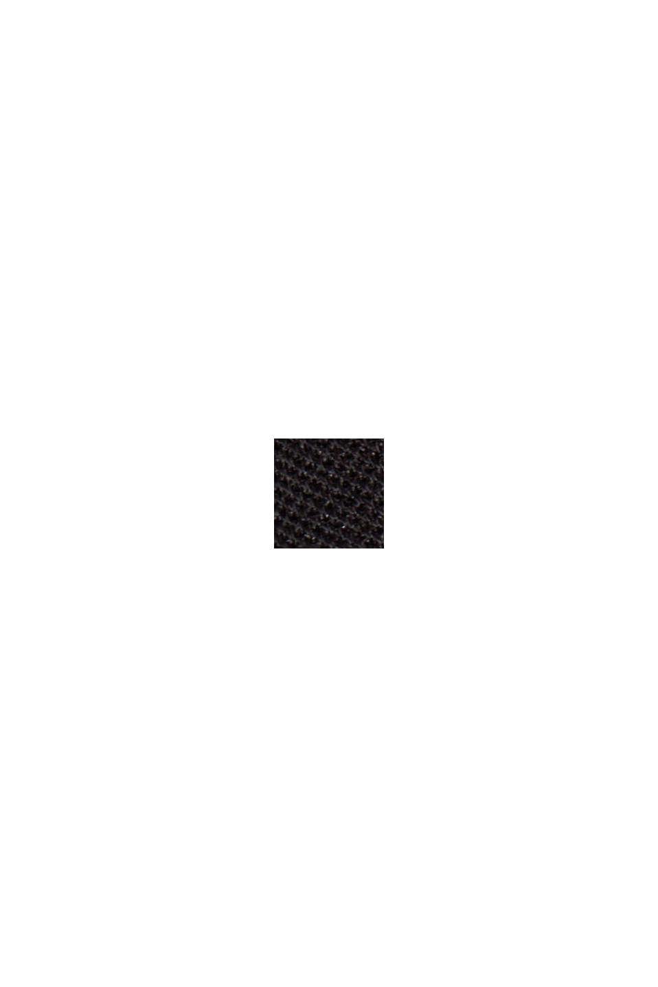 Broek met hoge taille van jersey, BLACK, swatch