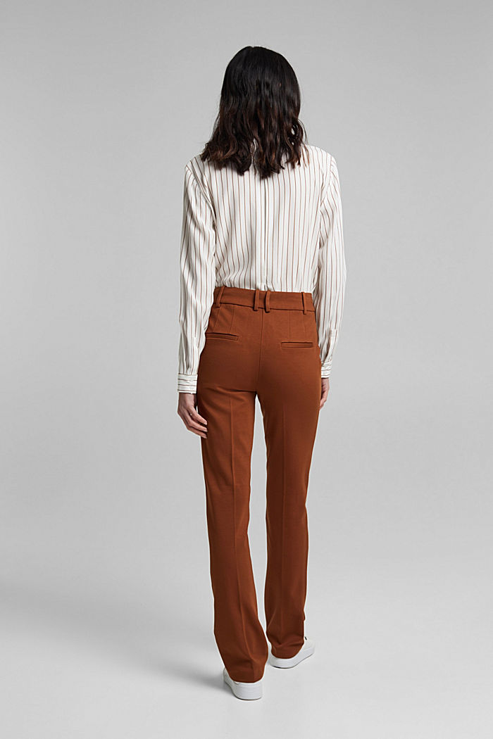 High-rise jersey trousers, TOFFEE, detail image number 3