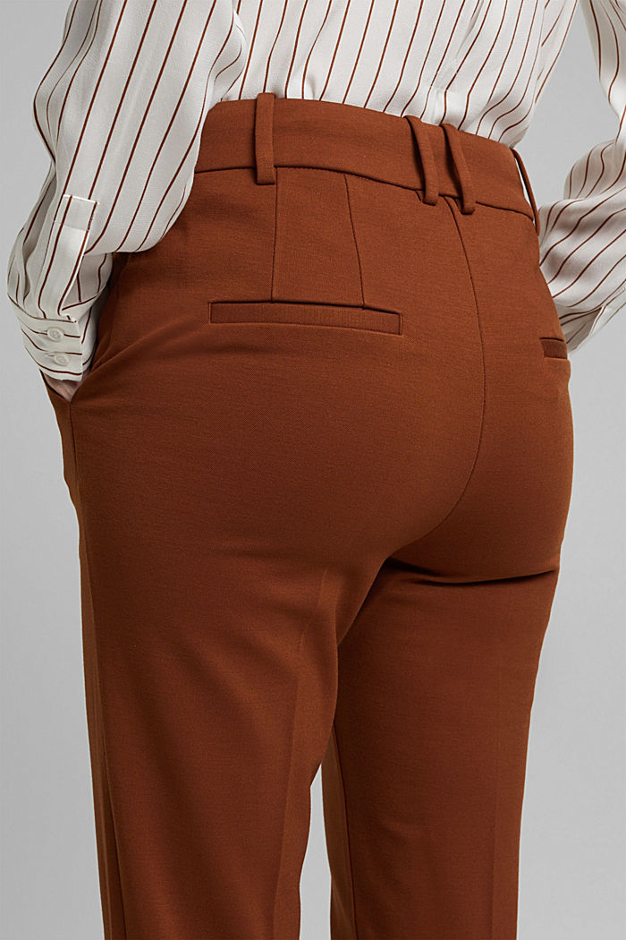 High-rise jersey trousers, TOFFEE, detail image number 2