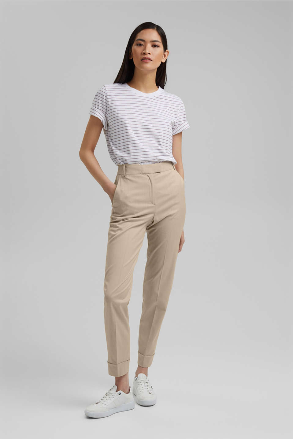 Esprit - SMART Mix + Match stretch trousers