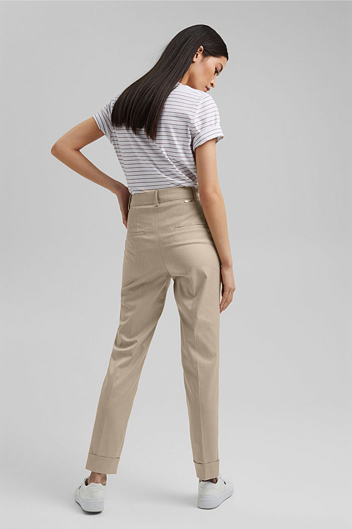 SMART - Pantalón elástico Mix + Match, BEIGE, detail image number 3