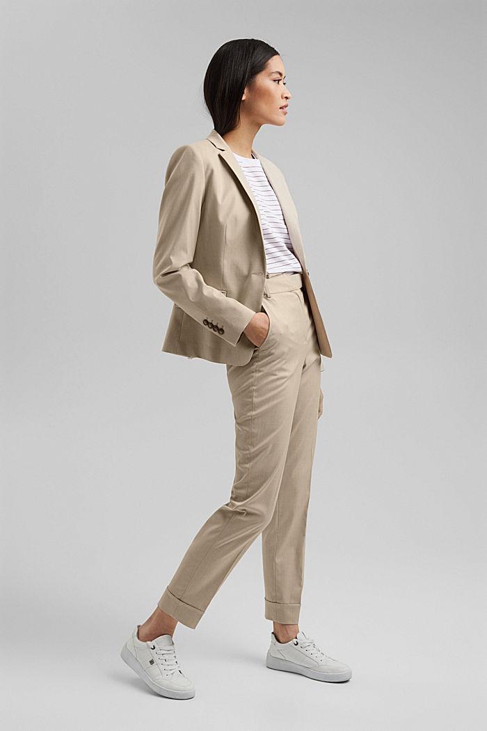 SMART - Pantalón elástico Mix + Match, BEIGE, detail image number 1