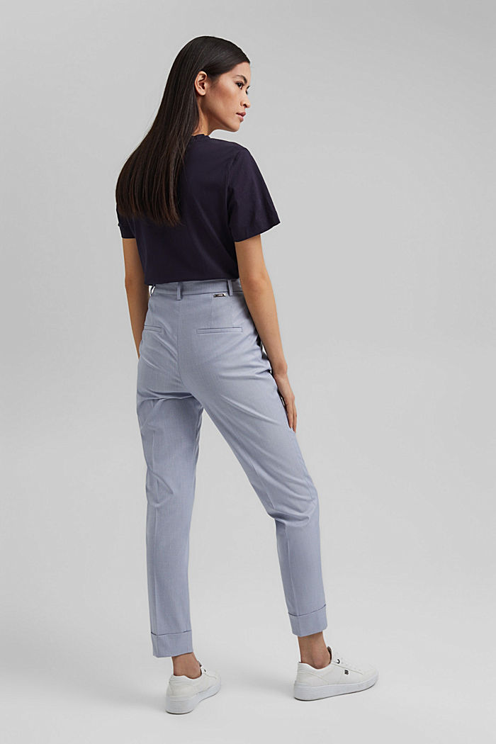 SMART Mix + Match stretch trousers, LIGHT BLUE, detail image number 3