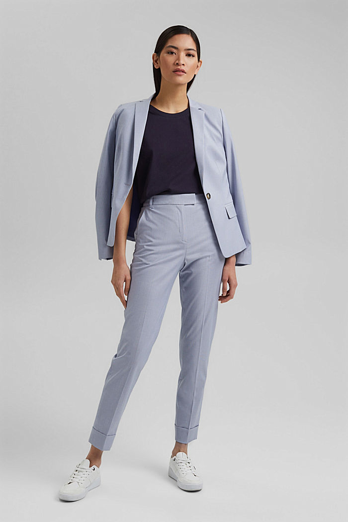 SMART Mix + Match stretch trousers, LIGHT BLUE, detail image number 1