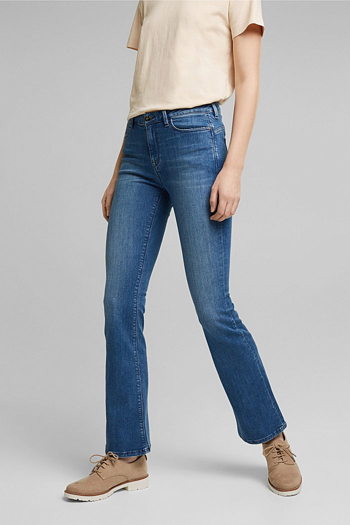 Stretch-Jeans mit Organic Cotton, BLUE MEDIUM WASHED, detail image number 0
