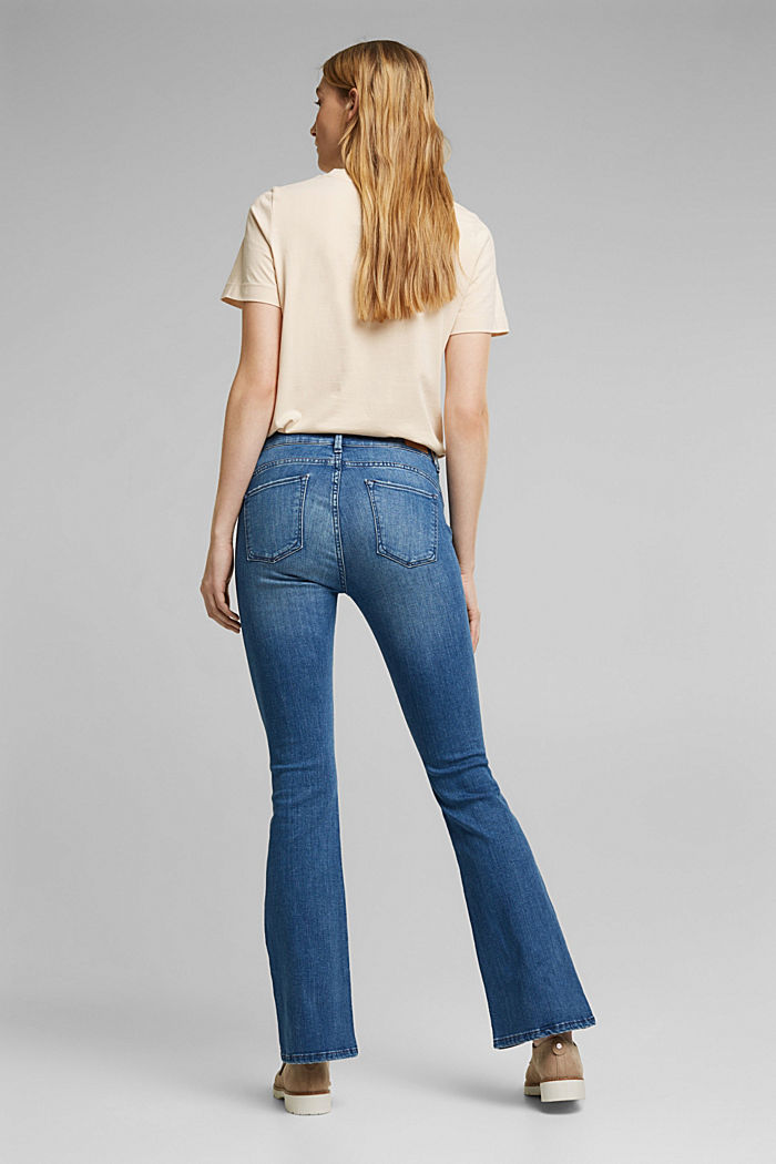 Stretch-Jeans mit Organic Cotton, BLUE MEDIUM WASHED, detail image number 3
