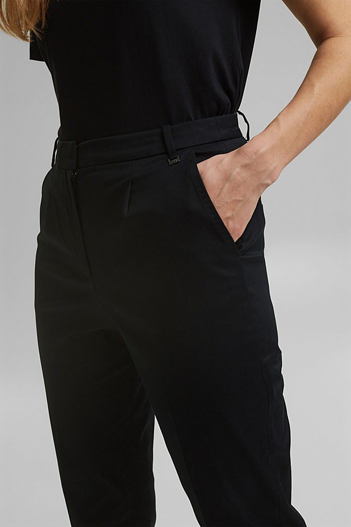 Stretch chinos with Lycra xtra life™, BLACK, detail image number 2