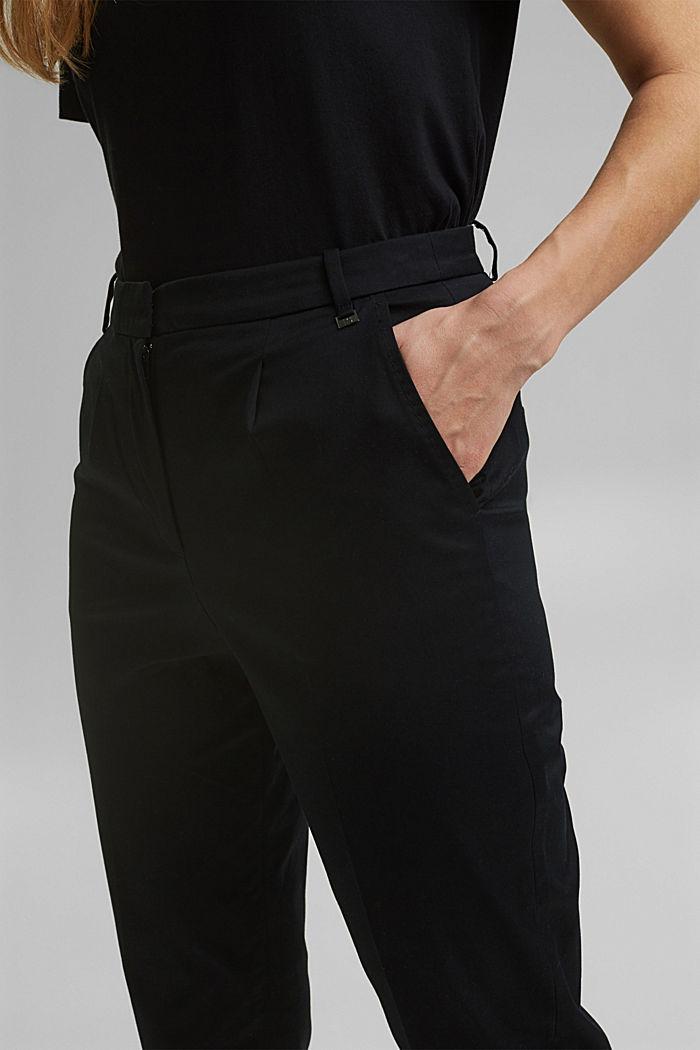 Chino met stretch en lycra xtra life™, BLACK, detail image number 2