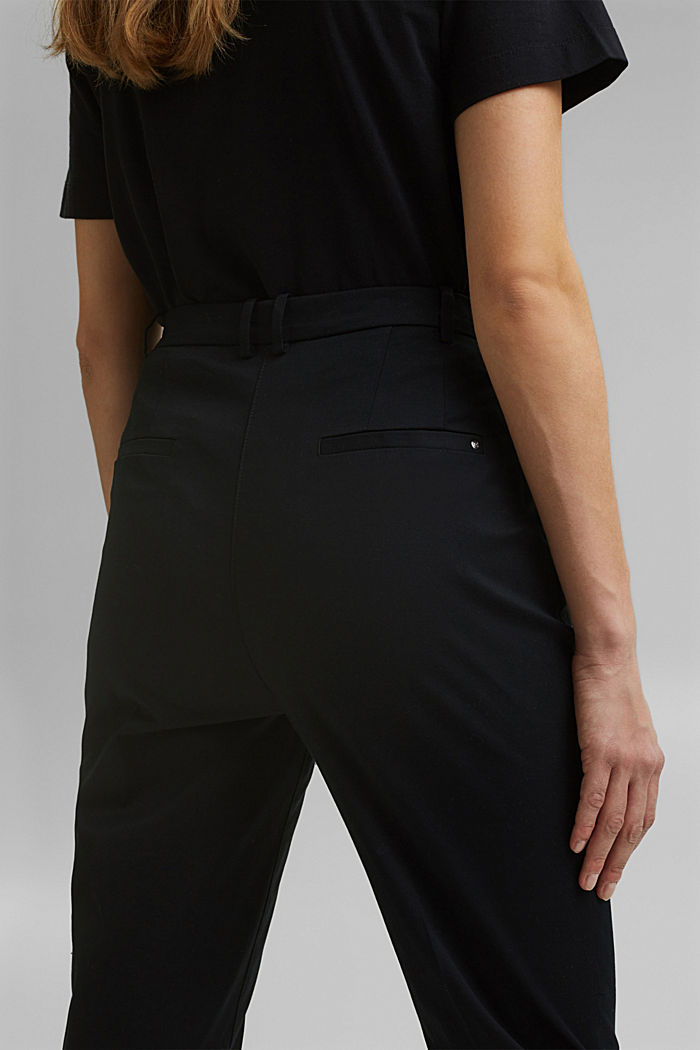 Stretch chinos with Lycra xtra life™, BLACK, detail image number 5