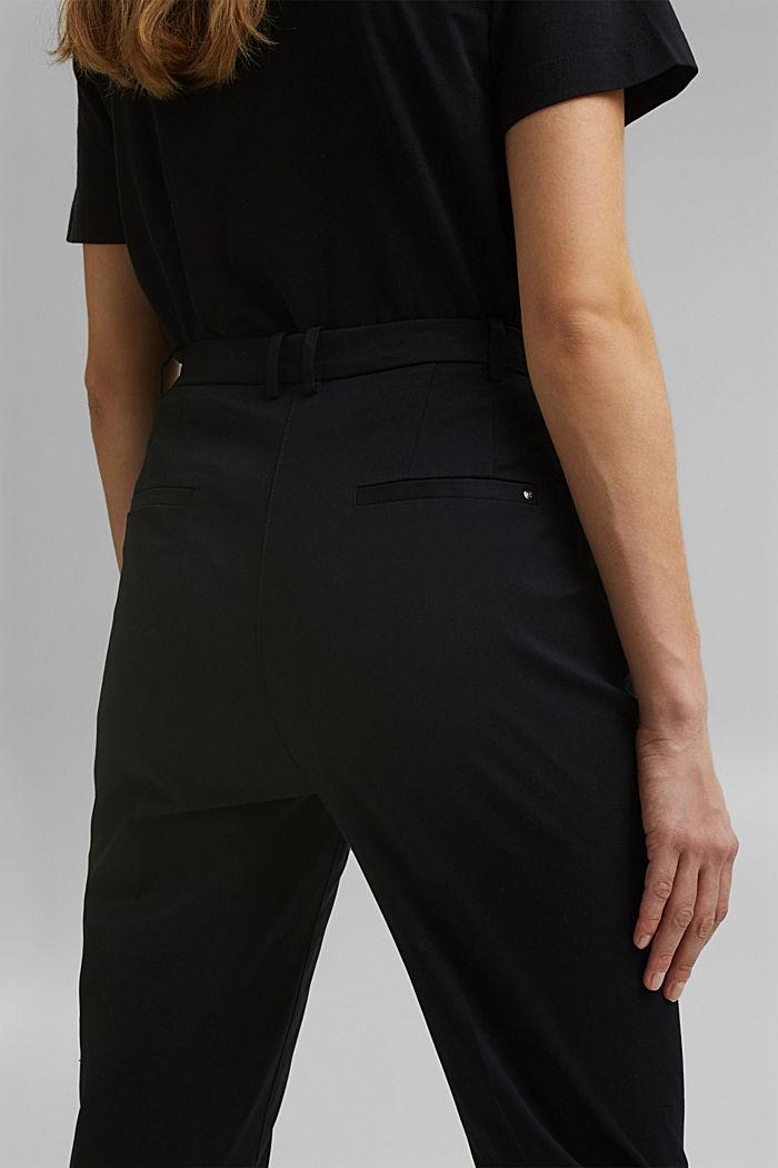 Chino met stretch en lycra xtra life™, BLACK, detail image number 5