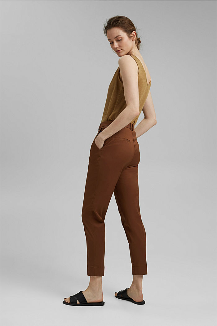 Stretch-Chino mit Lycra xtra life™, TOFFEE, detail image number 3