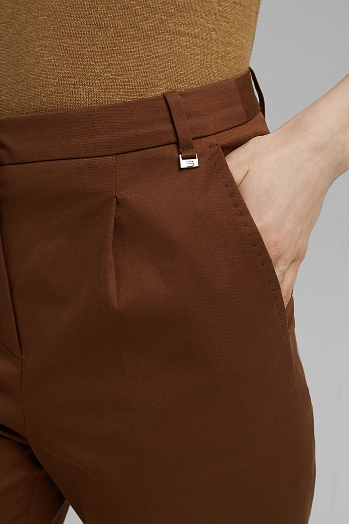 Stretch chinos with Lycra xtra life™, TOFFEE, detail image number 2