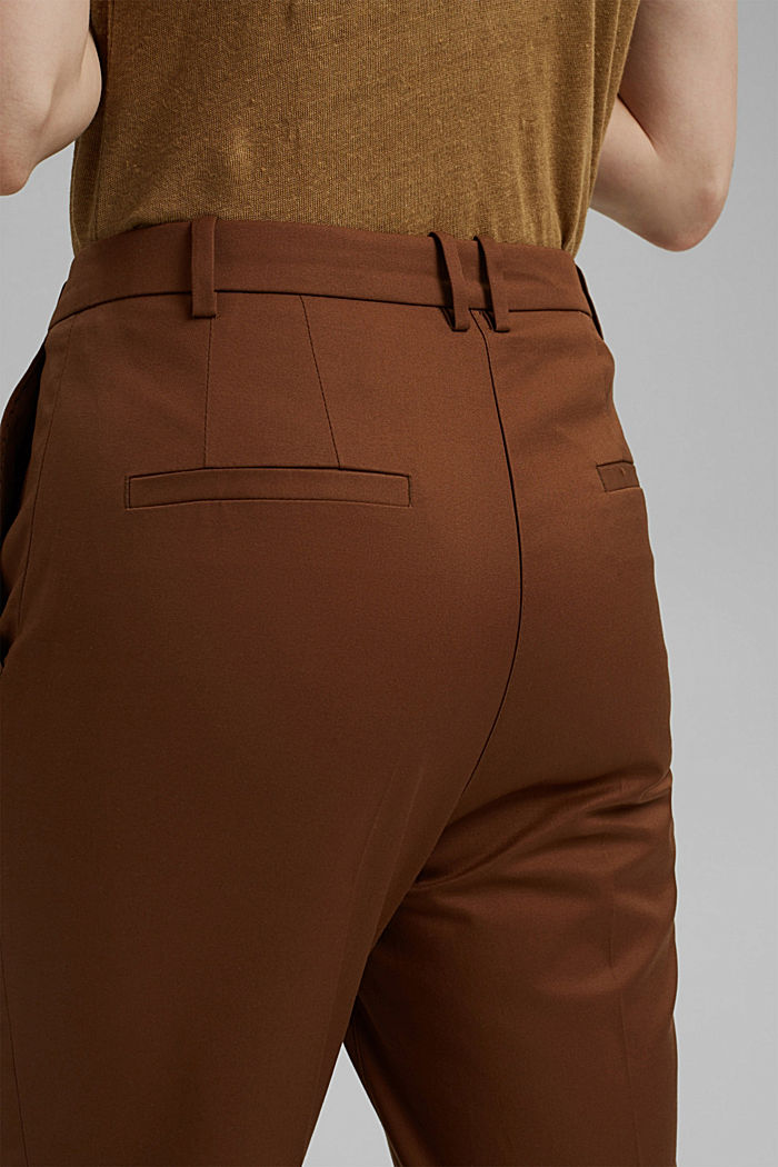 Stretch-Chino mit Lycra xtra life™, TOFFEE, detail image number 5