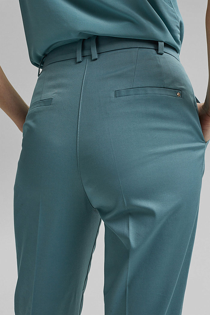 Stretch chinos with Lycra xtra life™, DARK TURQUOISE, detail image number 5