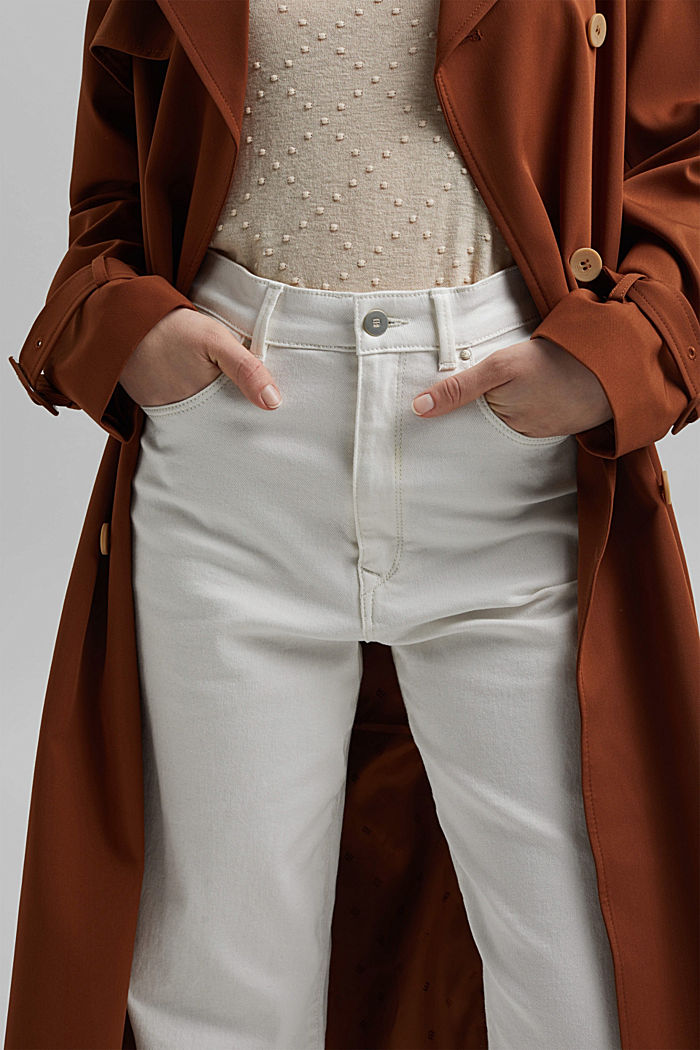 Fashionable, ankle-length jeans containing organic cotton, OFF WHITE, detail image number 2