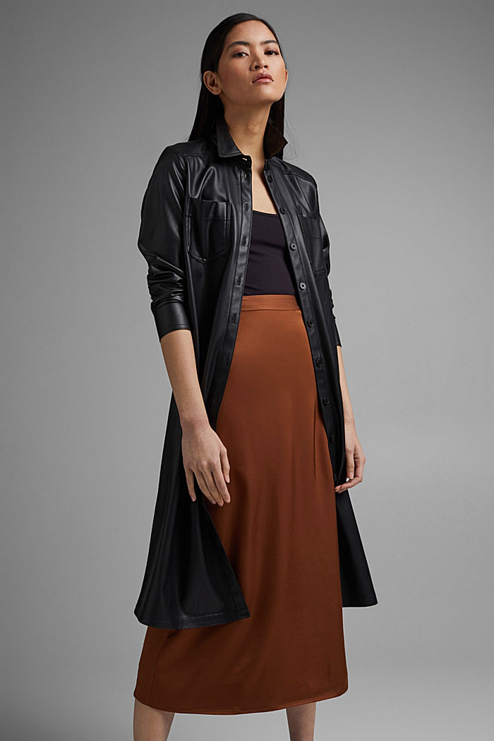 Midi skirt featuring LENZING™ ECOVERO™, TOFFEE, detail image number 1