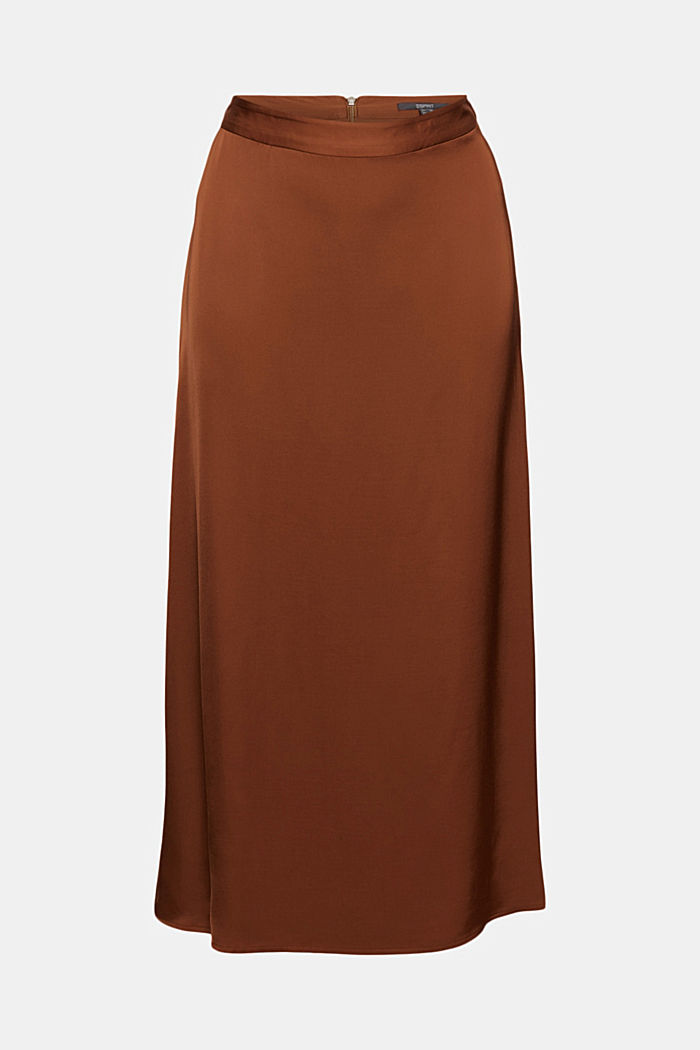 Midi skirt featuring LENZING™ ECOVERO™, TOFFEE, detail image number 5