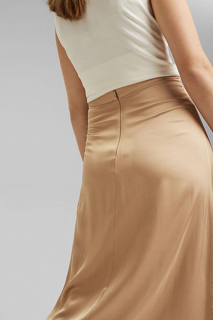 Midi-nederdel med LENZING™ ECOVERO™, SAND, detail image number 2